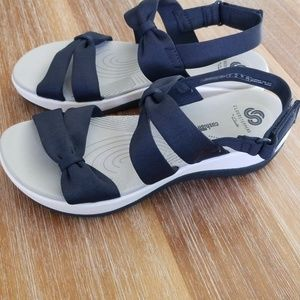 551e86ecab2f Clarks Shoes - Cloud Steppers Clark s Arla Mae Wedge Sandals ...